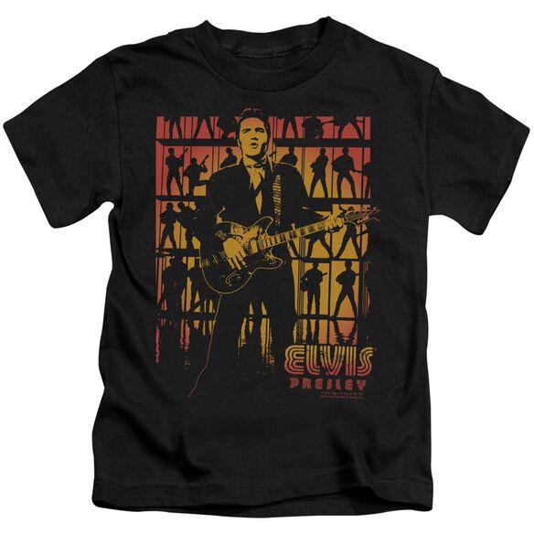 Elvis Comeback Spotlight Short Sleeve Juvenile Black T-Shirt
