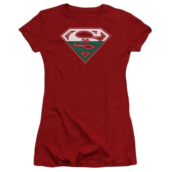 Superman Welsh Shield Premium Bella Junior Sheer Jersey