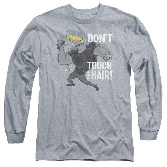 Johnny Bravo Hair Long Sleeve Adult Athletic T-Shirt