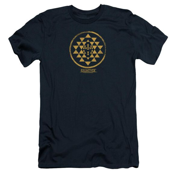 BSG GOLD SQUADRON PATCH - S/S ADULT 30/1 - NAVY T-Shirt