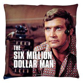 Six Million Dollar Man Steve Austin Throw Pillow