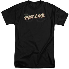 They Live Glasses Logo Short Sleeve Adult Tall T-Shirt