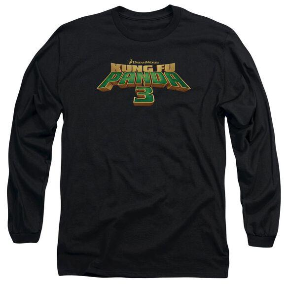 Kung Fu Panda Logo Long Sleeve Adult T-Shirt
