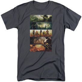 Injustice Gods Among Us Panels Short Sleeve Adult Tall T-Shirt