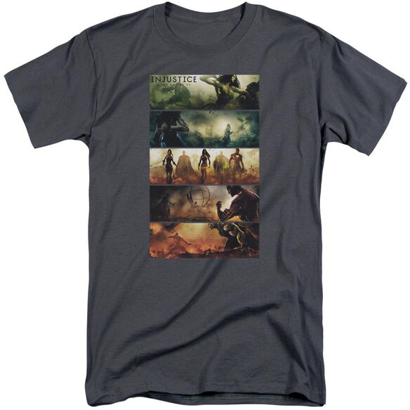 Injustice Gods Among Us Panels Short Sleeve Adult Tall T-Shirt