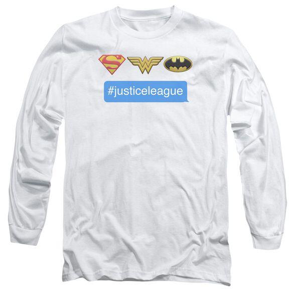 Dc Hashtag Jla Long Sleeve Adult T-Shirt