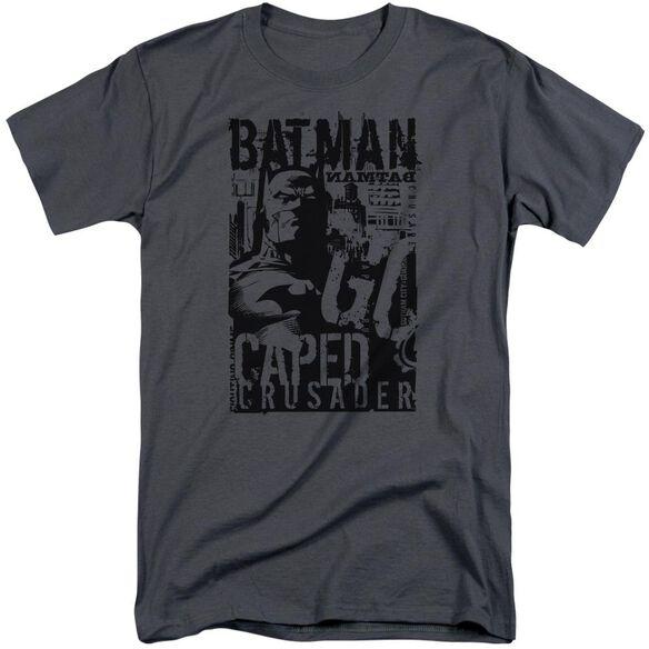 Batman Caped Crusader Short Sleeve Adult Tall T-Shirt