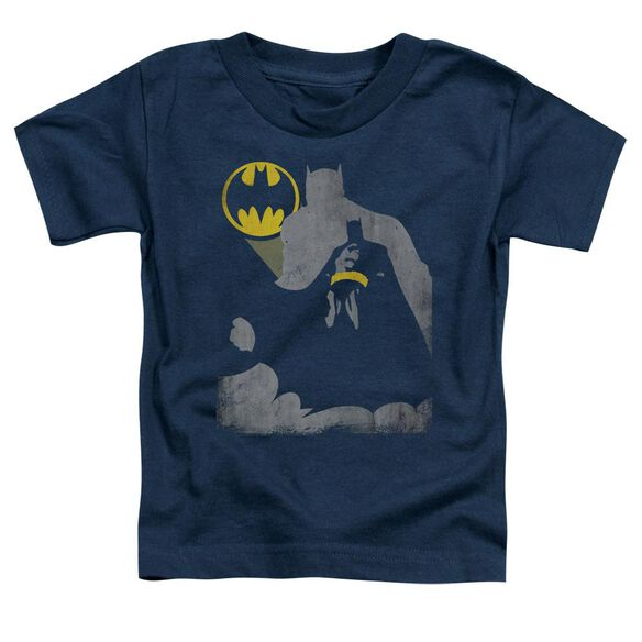 Batman Bat Knockout Short Sleeve Toddler Tee Navy T-Shirt
