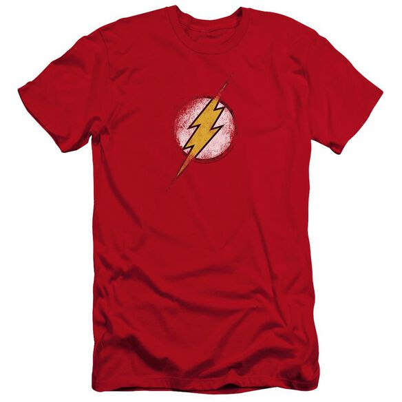 Jla Destroyed Flash Logo Premuim Canvas Adult Slim Fit