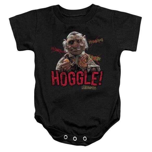 Labyrinth Hoggle Infant Snapsuit Black