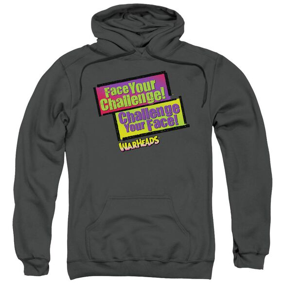 Warheads Face Your Challenge Adult Pull Over Hoodie