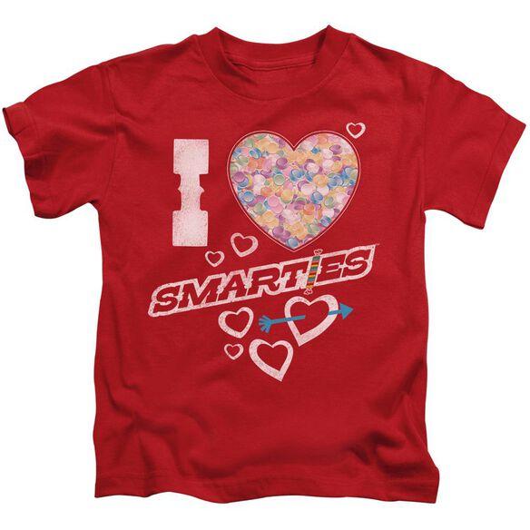 Smarties I Heart Smarties Short Sleeve Juvenile Red Md T-Shirt