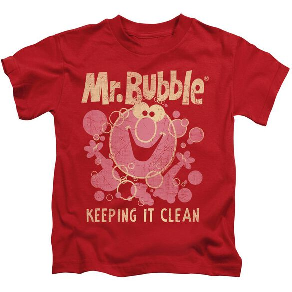 Mr Bubble Keeping It Clean Short Sleeve Juvenile T-Shirt