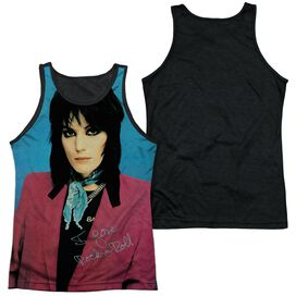 Joan Jett I Love Rock And Roll Adult Poly Tank Top Black Back