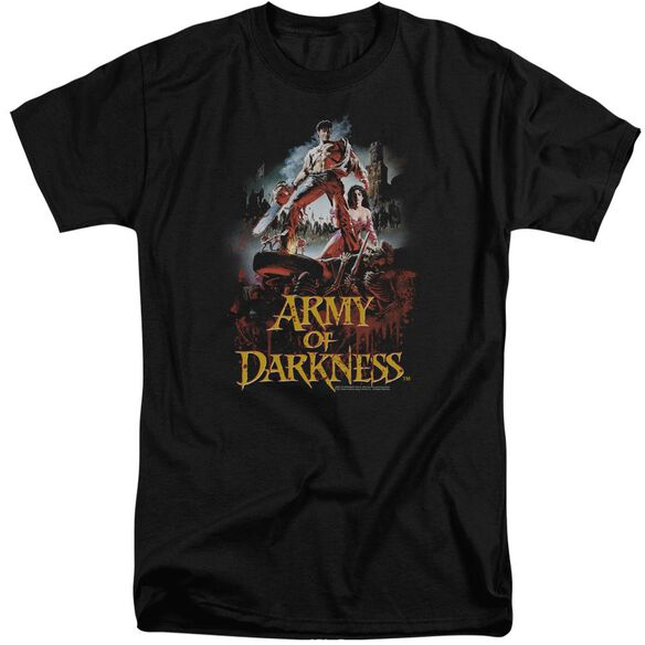 Army Of Darkness Bloody Poster Short Sleeve Adult Tall T-Shirt