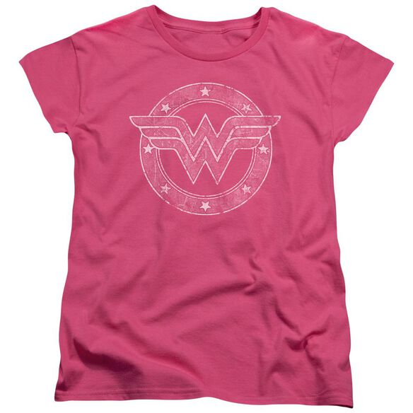 Dc Tattered Emblem Short Sleeve Womens Tee Hot T-Shirt