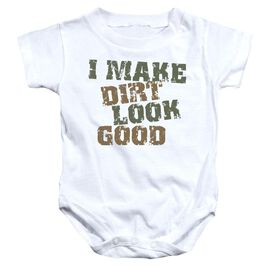 Dirt Look Good - Infant Snapsuit - White - Lg
