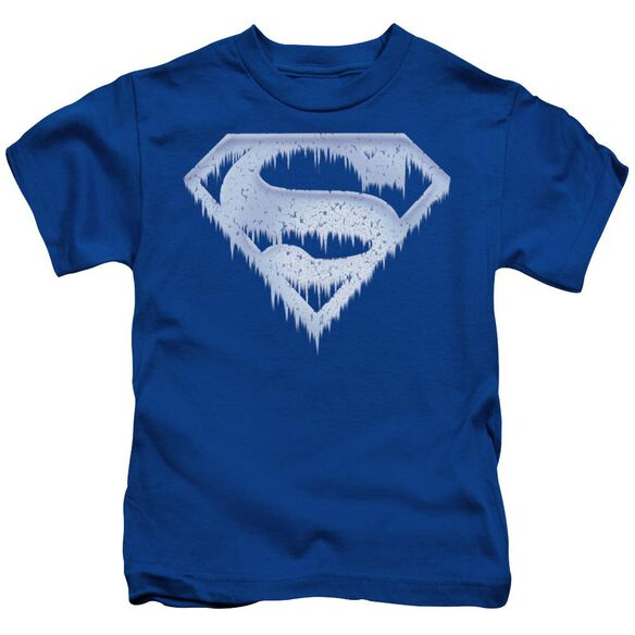 Superman Ice And Snow Shield Short Sleeve Juvenile Royal Blue T-Shirt