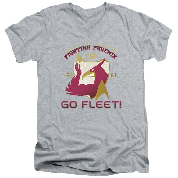 Star Trek Fighting Phoenix Short Sleeve Adult V Neck Athletic T-Shirt