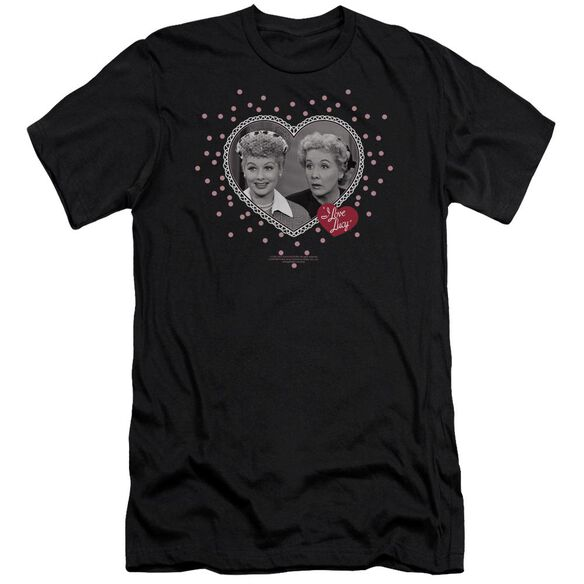 I Love Lucy Hearts And Dots Short Sleeve Adult T-Shirt