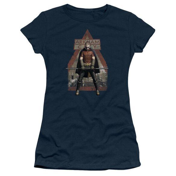 Arkham City Arkham Robin Short Sleeve Junior Sheer T-Shirt