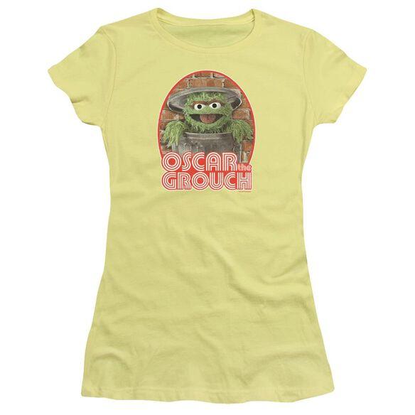Sesame Street Oscar Iron On Premium Bella Junior Sheer Jersey