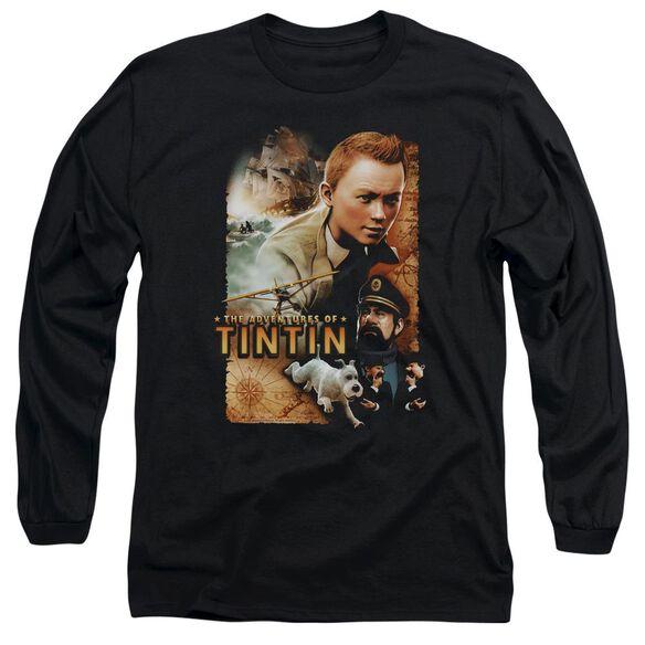Tintin Adventure Poster Long Sleeve Adult T-Shirt