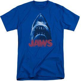 Jaws From Below Short Sleeve Adult Tall Royal T-Shirt