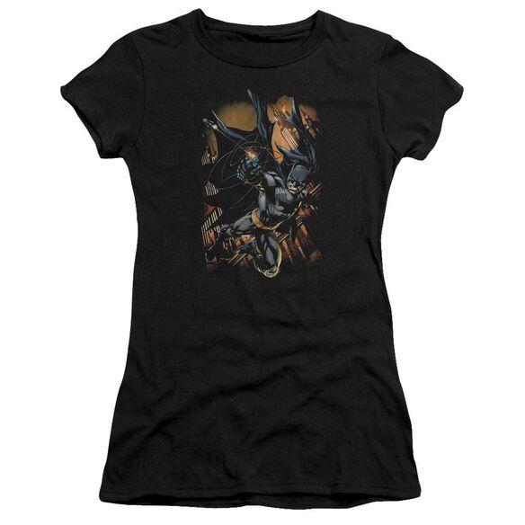 Batman Grapple Fire Short Sleeve Junior Sheer T-Shirt