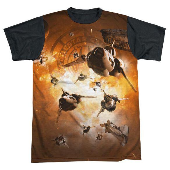 Bsg Dog Fight Short Sleeve Adult Front Black Back T-Shirt