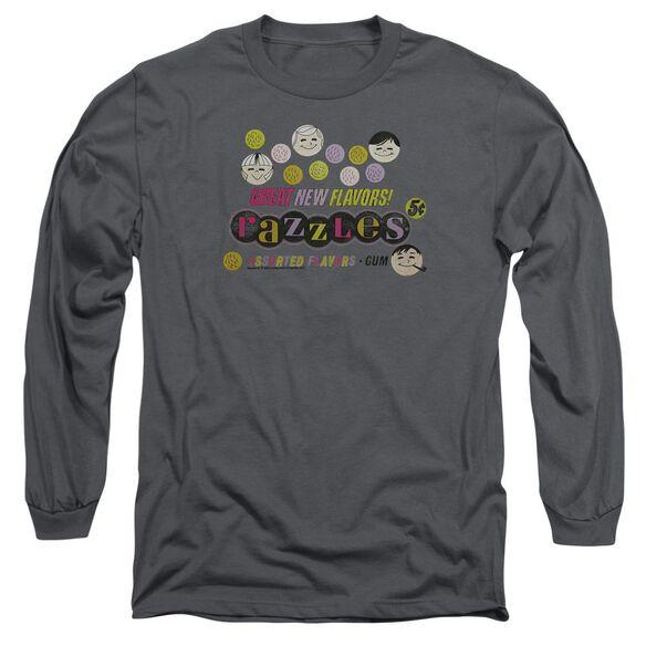 Dubble Bubble Razzles Retro Box Long Sleeve Adult T-Shirt