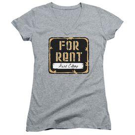 For Rent Junior V Neck Athletic T-Shirt
