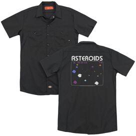 Atari Asteroids Screen (Back Print) Adult Work Shirt