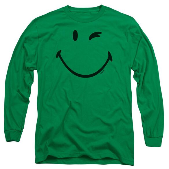 Smiley World Big Wink Long Sleeve Adult Kelly T-Shirt