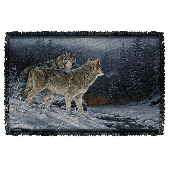 Wild Wings Twilight Hunters 2 Woven Throw
