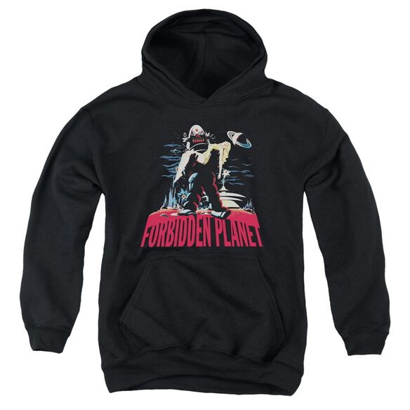 Forbidden Planet Robby And Woman Youth Pull Over Hoodie