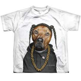 Pets Rock Rap Short Sleeve Youth Poly Crew T-Shirt