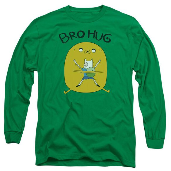 Adventure Time Bro Hug Long Sleeve Adult Kelly T-Shirt