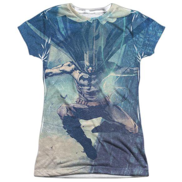 Batman Skyscrapers Short Sleeve Junior Poly Crew T-Shirt