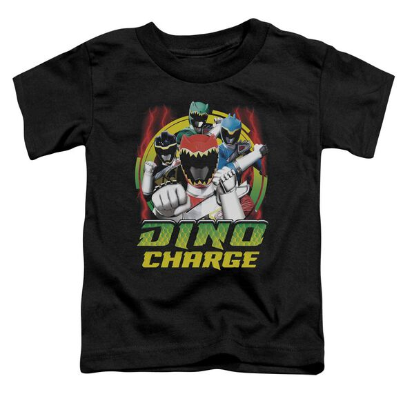 Power Rangers Dino Lightning Short Sleeve Toddler Tee Black T-Shirt