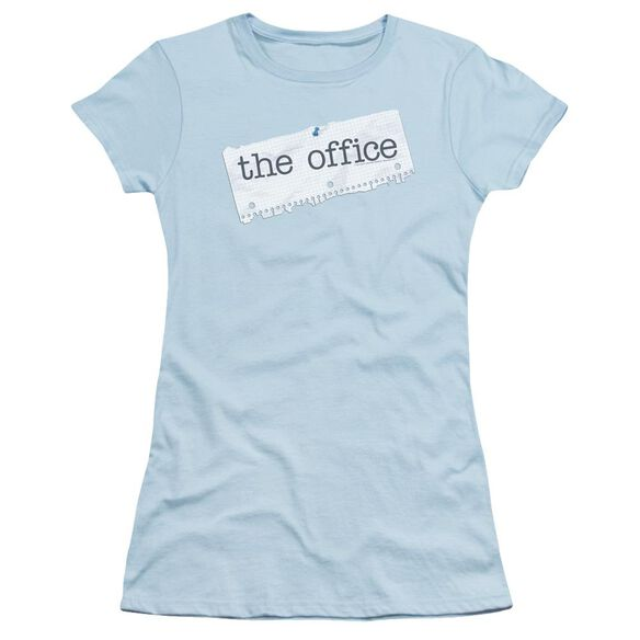 The Office Paper Logo Short Sleeve Junior Sheer Light T-Shirt