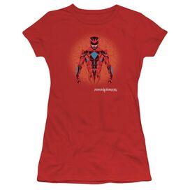 Power Rangers Power Ranger Graphic Short Sleeve Junior Sheer T-Shirt