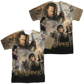 Lor King Poster (Front Back Print) Short Sleeve Adult Poly Crew T-Shirt
