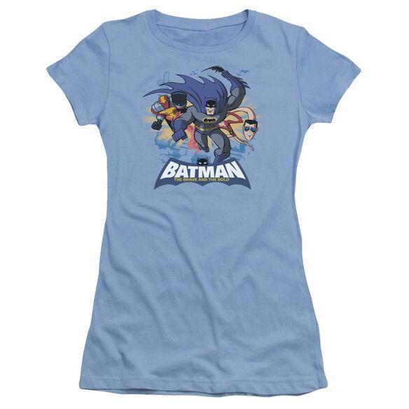 Batman Bb Charging Trio Short Sleeve Junior Sheer Carolina T-Shirt