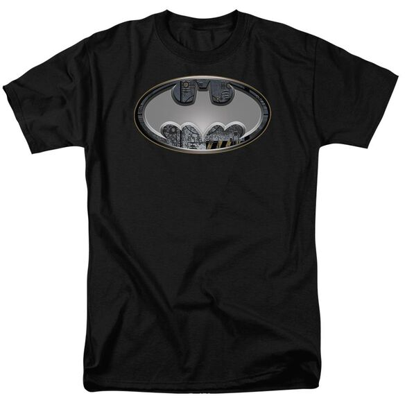 Batman Steel Wall Shield Short Sleeve Adult T-Shirt
