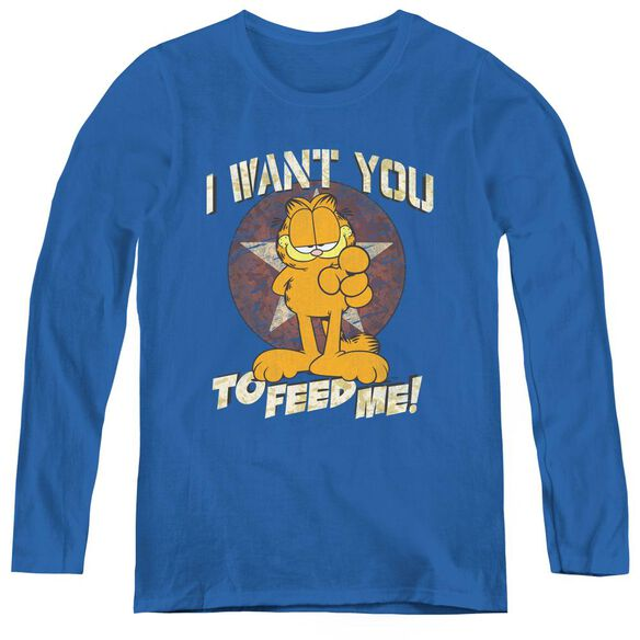 Garfield I Want You-womens Long Sleeve