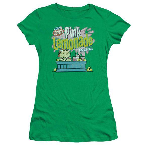 DUBBLE BUBBLE PINK LEMONADE - S/S JUNIOR SHEER - KELLY GREEN T-Shirt
