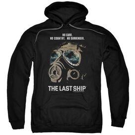 Last Ship Mask Adult Pull Over Hoodie Black