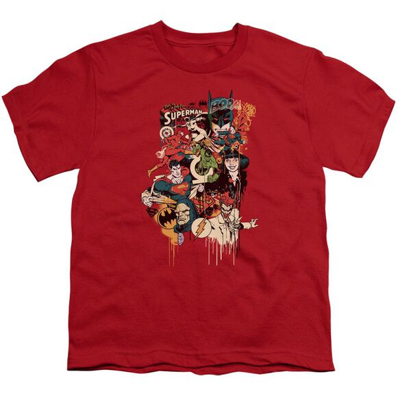 Dc Dripping Characters Short Sleeve Youth T-Shirt