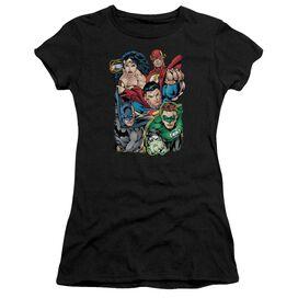 Jla Break Free Short Sleeve Junior Sheer T-Shirt